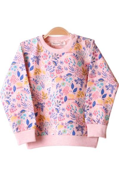 Breeze Kız Çocuk Sweat Çiçekli Karışık Renk 1,5-5 Yaş