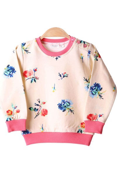 Breeze Kız Çocuk Sweat Çiçekli Sarı 1,5-5 Yaş