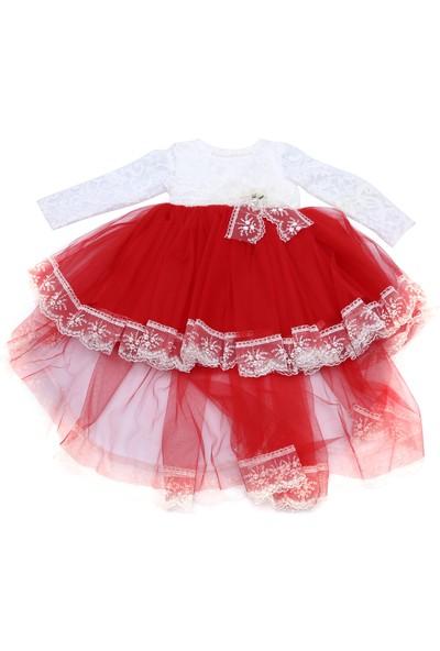 Şevval Kids Dantelli Tüllü Abiye Kız Çocuk Elbise 3 Yaş