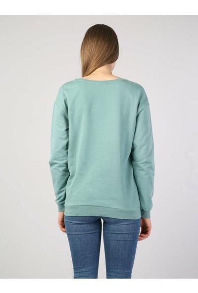 Colin's Turkuaz Kadın Sweatshirt