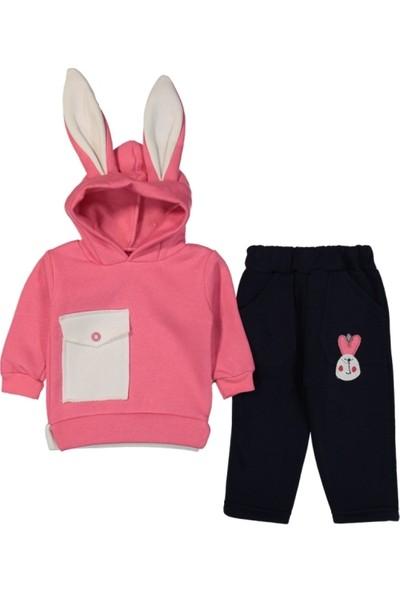 Babydoss Baby Tavşan Kulaklı 3 İp Cepli Takım
