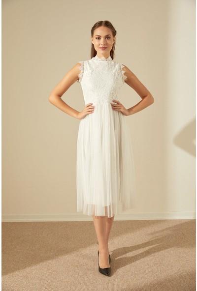 Trendmay Kadın Güpür Elbise 006