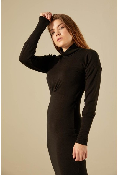 Trendmay Kadın Uzun Triko Elbise 001