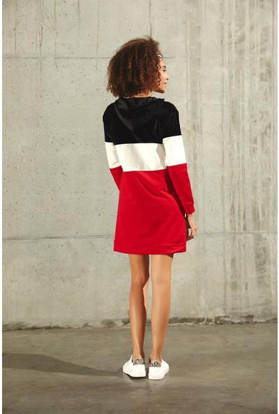 Trendmay Kadın Yazılı Spor Elbise 14