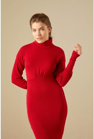 Trendmay Kadın Uzun Triko Elbise 14