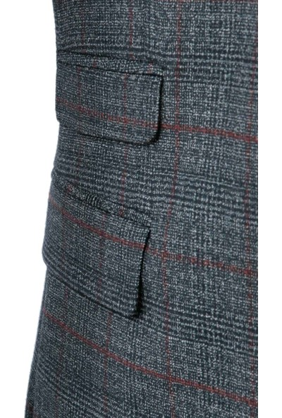 Centone Takım Elbise Yelekli Slim Fit 6 Drop 19-0425