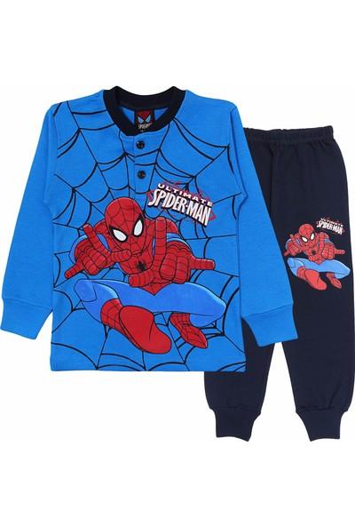 DobaKids Örümcek Adam Erkek Çocuk Pijama Takımı Mavi