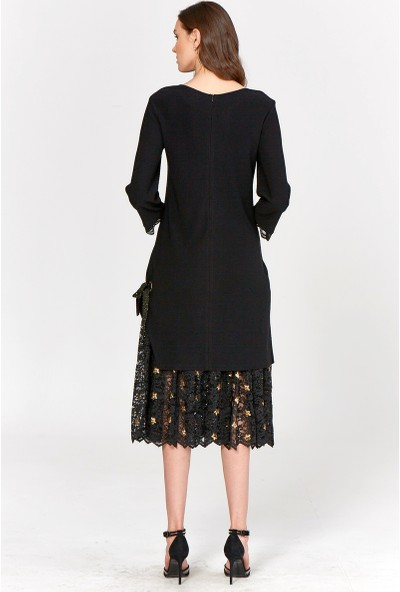 Guitar Kadın 19531 Siyah Elbise