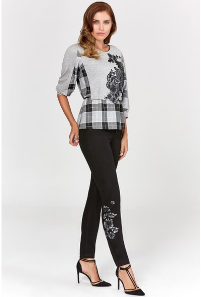 Guitar Kadın 19754-H Siyah Pantolon