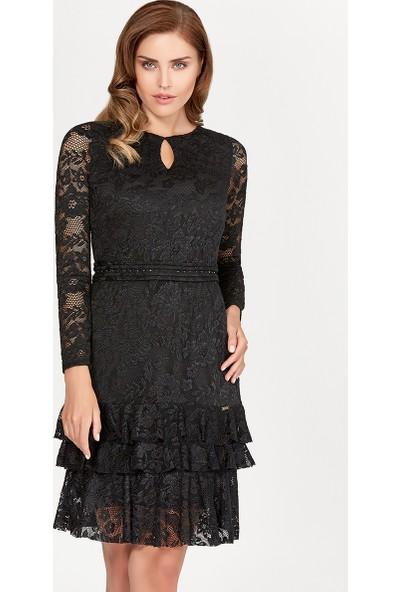 Guitar Kadın 19802 Siyah Elbise