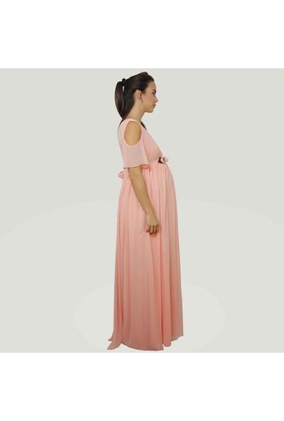 Entarim Baby Shower Hamile Elbise Pudra 38