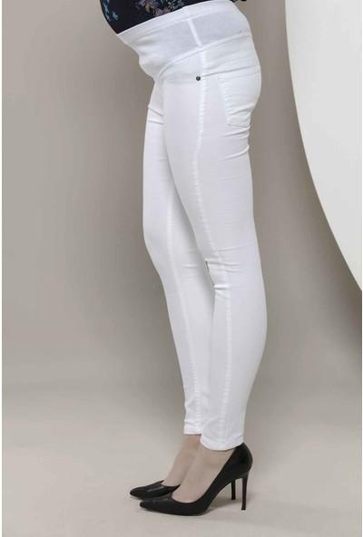 Görsin Hamile Pamuk Pantolon Beyaz 38