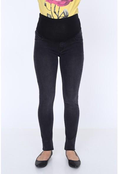 Görsin Hamile Dar Paça Kot Pantolon Siyah 38