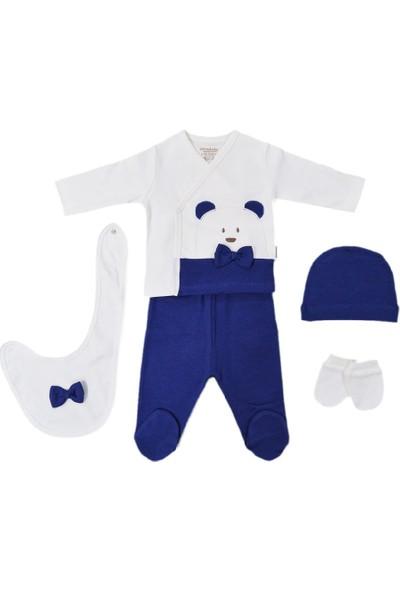 Ciccim Baby Bebek Hastane Çıkış Seti 5'li 4311 İndigo 0 - 3 Ay