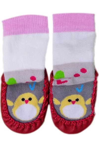 Pappix Bebek Çarık Çorap 891 Bordo 16-17 Numara