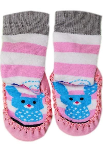 Pappix Bebek Çarık Çorap 891 Pembe 16-17 Numara