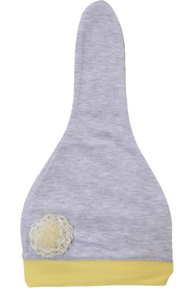Sebi Bebe Bebek Şapkası 9512 Sarı-Gri 0 - 3 Ay