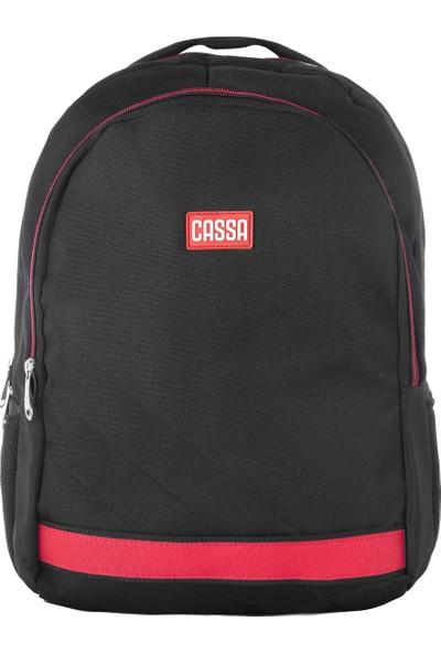 Cassa Unisex Laptop Bölmeli Sırt Çantası Siyah 3345