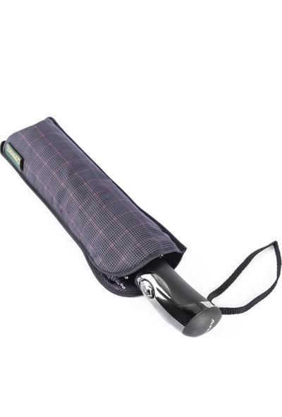 Snotline Erkek Şemsiye Mini Kare Desen Kırmızı Siyah 224G