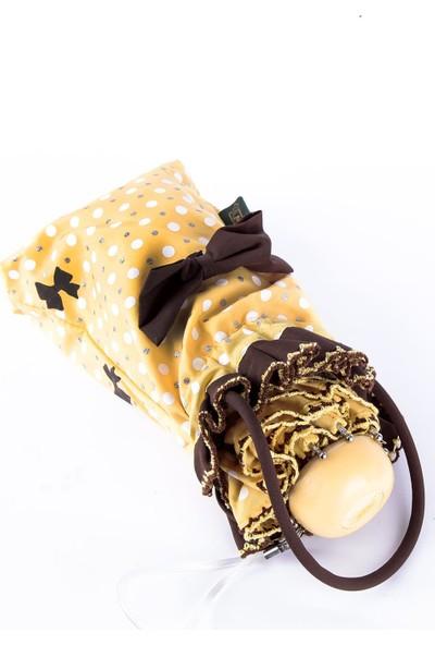 April Kız Çocuk Şemsiyesi Papiyonlu Sarı 212L