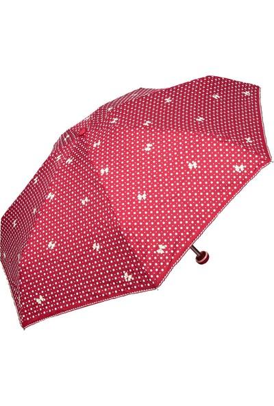 April Kız Çocuk Şemsiyesi Papiyonlu Kırmızı 212L