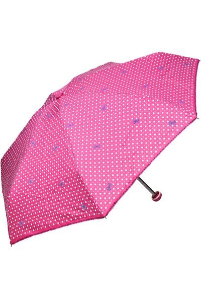 April Kız Çocuk Şemsiyesi Papiyonlu Fuşya 212L