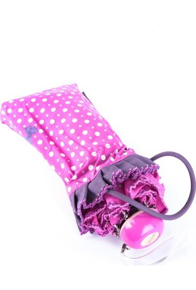April Kız Çocuk Şemsiyesi Papiyonlu Pembe 212L