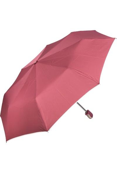 Snotline Kadın 8 Telli Manuel Kadın Şemsiye Kırmızı 42L