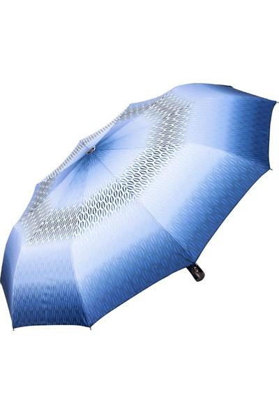 Snotline Kadın Şemsiye Mini Desenli Mavi 225L