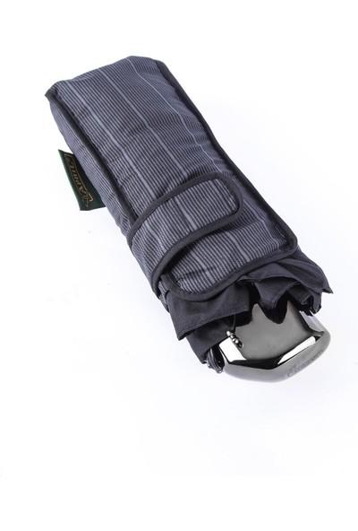 April Erkek Şemsiye Süper Mini Cizgili Siyah 204G