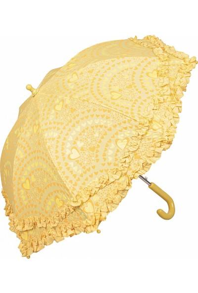 Snotline Kız Çocuk Baston Şemsiye Sarı 215S