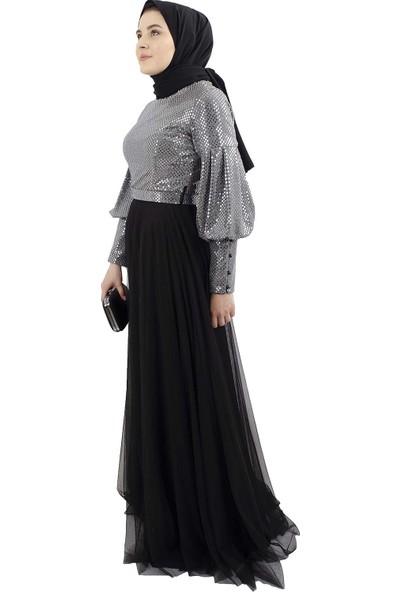 Arda New Line Kadın Gümüş Elbise 1063020-10.221
