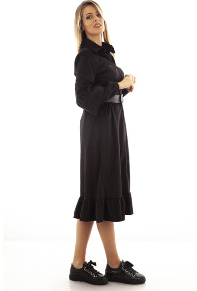 Arda New Line Siyah Elbise 9407761.01