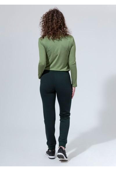 Dagi Kadın 3 İpllik Altı Ribana Eşofman Alt Yeşil