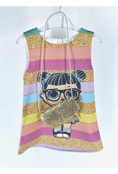 Kardelya Lol Bebek Çantalı Elbise
