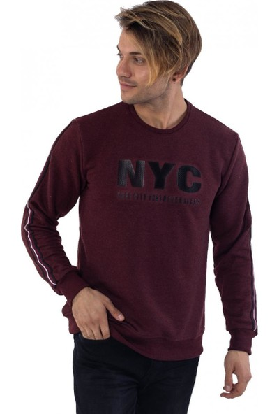 Louis Park 3 İplik Baskılı Basic Sweatshirt