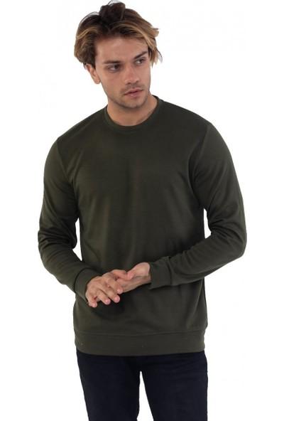 Louis Park Sıfır Yaka Basic 3 İplik Sweatshirt