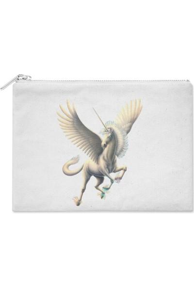 Wuw Beyaz Unicorn El Çantası