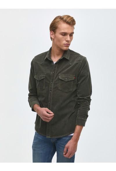 LTB Roney Rock Green Wash Erkek Jeans Gömlek