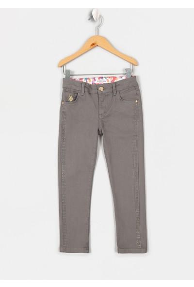 U.S. Polo Assn. Kız Çocuk Dokuma Spor Pant 50207568-Vr024