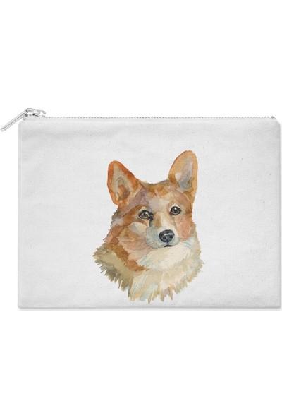 Wuw Watercolor Gorki Köpek El Çantası
