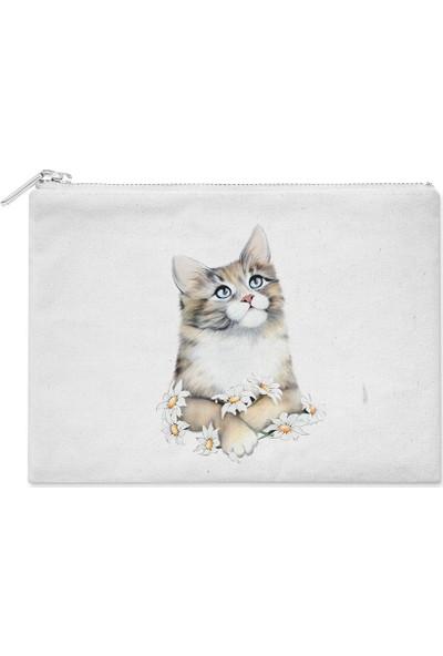 Wuw Çiçekli Kedi El Çantası