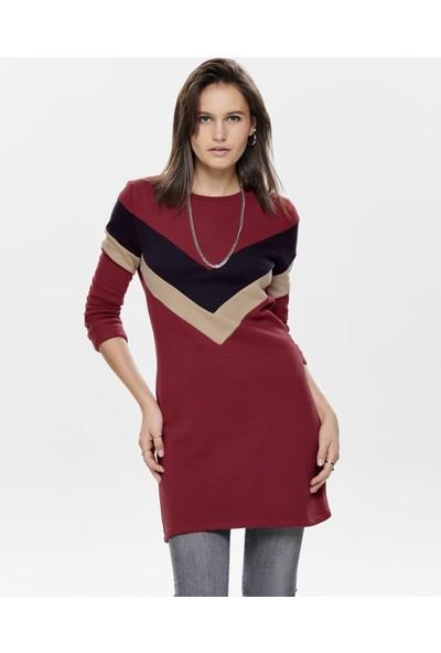 Only Kadın Elbise Sweat Dakota O Neck 15188798-Mer