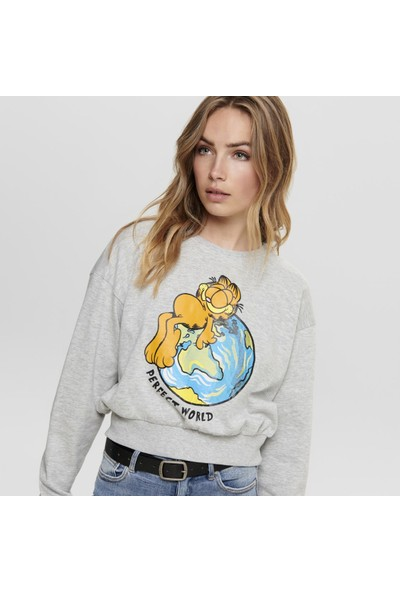 Only Onlfgarfield Sweat Kadın Sweat 15193214