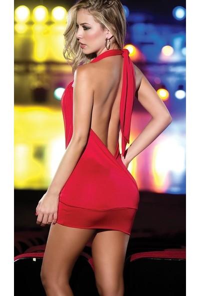 Merry See Dekolteli Mini Elbise
