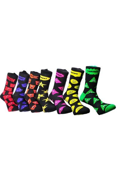 Jocox Haftanın 7 Günü 7li Çorap Takımı