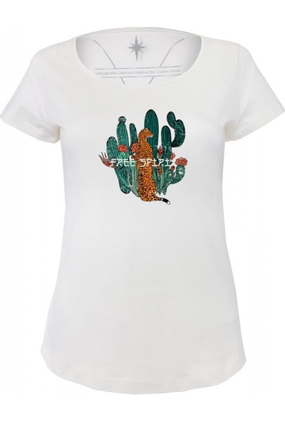 Angemiel Wear Free Spirit Özgür Ruh Pamuklu Kadın Siyah T-Shirt