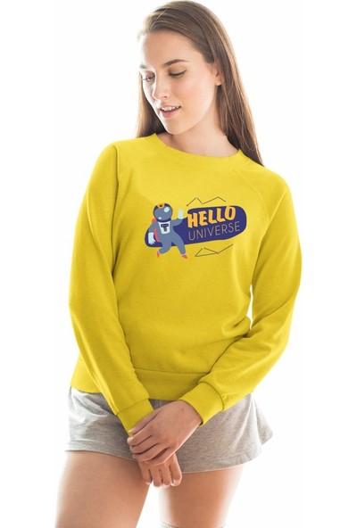 Angemiel Wear Hello Universe Kadın Sweatshirt