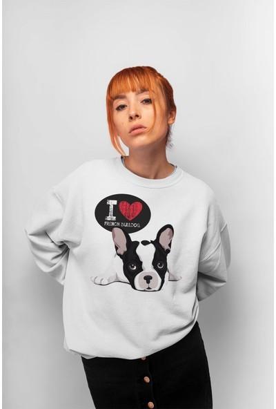 Angemiel Wear Bulldog Kadın Sweatshirt