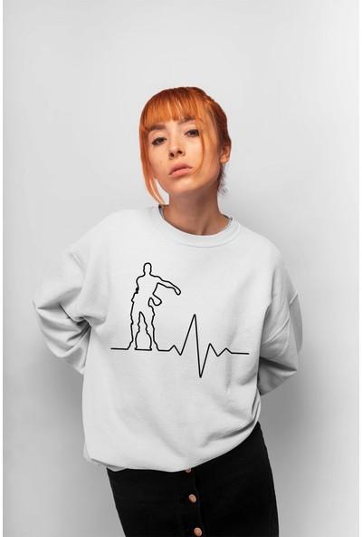 Angemiel Wear Heartbeat Kadın Sweatshirt